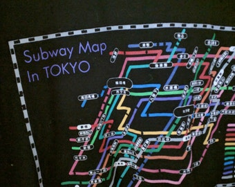 Subway map of Tokyo tshirt shirt Japan small souvenir
