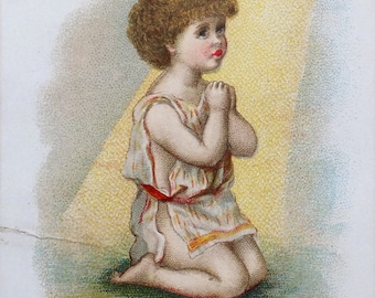 Small Vintage Lithograph--Have Mercy (r)