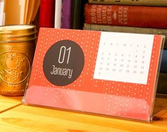 2016 Seasons Graphic 12-month Desktop Calendar