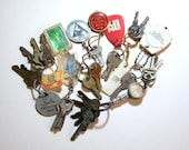 Advertising Key Chains, Collection Of Ten Plus Keys