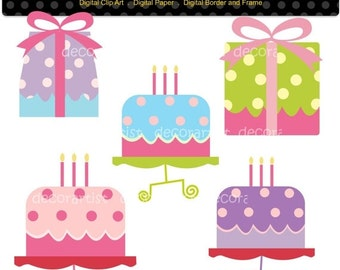ON SALE clipart,Digital clipart. for all use, present  and cake, INSTANT Download cake clip art