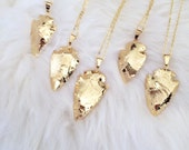 Gold Plater Arrowhead Necklace