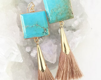 Tassel Earrings, Teardrop Tassel