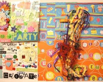 BIRTHDAY DIY Paper Bag Album Scrapbooking Kit 100+pc