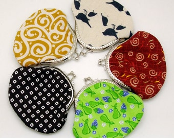 Big SALE - Set of 5 - Bridesmaid gift / Wedding gift / Christmas gift / Small clutch / Coin purse (G11)