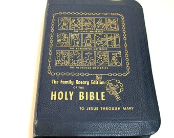 The Family Rosary Edition Of The Holy Bible, 1950s Bible