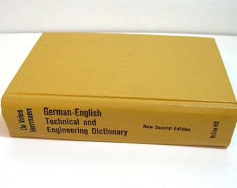 German-English Technical And Engineering Dictionary, Vintage Book