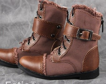 Fatiao - New 1/3 BJD Supper dollfie SD Cool Boots Dolls Shoes Brown (Size 8.5cm)