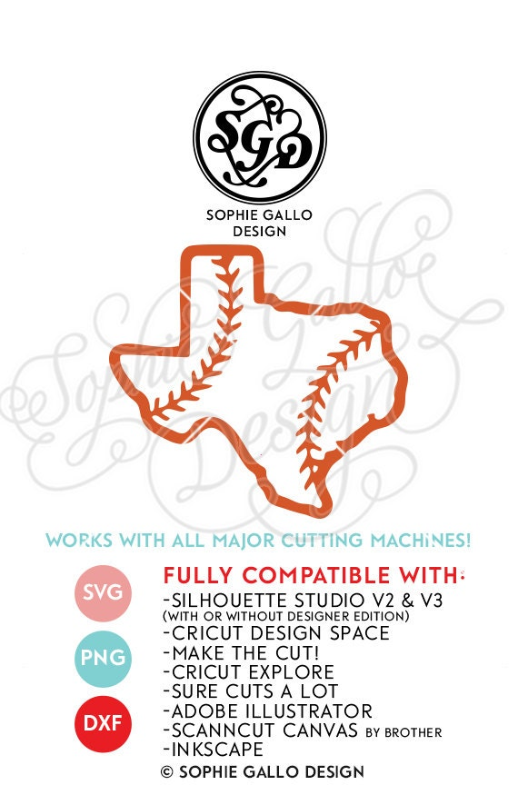 Texas State Baseball Svg Dxf Png Digital Download Files
