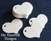 Small Wooden HEART Tags (Lot of 12) for Valentine's Day, Weddings, DIY Name Tags, Unfinished Wood [Blank labels / ornaments]