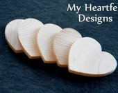 1.5 inch Wooden Heart Cutouts (Lot of 800) Unfinished Wood 1-1/2 inches