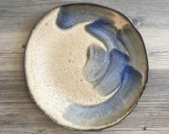 Gorgeous ceramic dinner  plate - zen japanese inspired design in a cappuccino glaze  handmade ceramic dinnerware - tableware - wedding