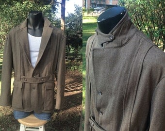 Polo Men Norfolk Jacket Wool Taupe Brown er Hong Kong - Men - Large