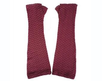 1930s Violet Lace Gauntlets Gloves