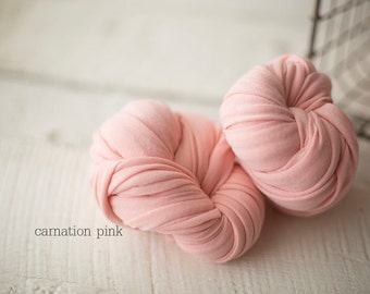 Stretch Knit Wrap - Newborn Knit Wrap - SNUG Jersey Wrap - Newborn Prop - CARNATION Pink baby wrap - Knit wrappers