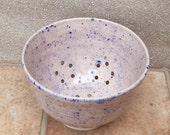 Berry bowl or colander hand thrown  ceramic pottery