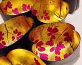 Metallic Key Pots Hand Printed Bowls