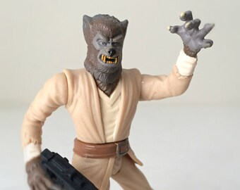 90s Kenner Star Wars Figure, Lak Sivrak the Wolfman - Alien, Monster, Werewolf from Mos Eisley Cantina, Star Wars A New Hope - Ready to Gift