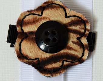 Hair Bow - Zebra Flower Felties Hairbow