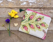 Cosmetic Bag, Makeup Bag, Floral Bag, Zipper Pouch, Zipper Bag, Mother's Day Gift, Large Cosmetic Bag, Gift for Her, Jannysgirl