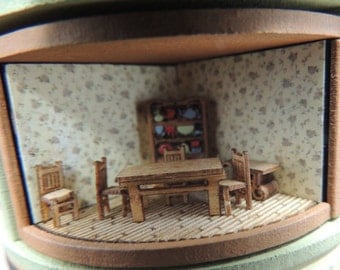 Dollhouse miniature 144th scale dining room kit