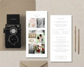Rack Card Template for Photographers - Wedding Photographer Brochure Design - Pricing Guide Templates - Price List - m0243