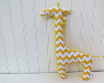 Yellow Plush Giraffe Stuffed Animal Chevron