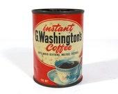 Vintage Instant G. Washington's Coffee Tin