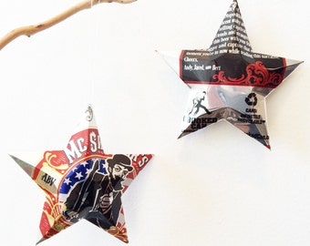 McSwagger's Own ABV Amber Ale Beer Stars Christmas Ornaments Aluminum Can Upcycled Crooked Can Brewing