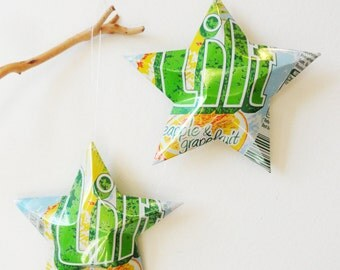 Lilt Soda,  Christmas Ornament, Recycled, Upcycled, Decor, Star from Can