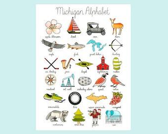 Michigan Alphabet Print State Pride