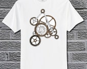 Doctor Who Inspired CIRCULAR GALLIFREYAN TRANSLATION on Custom Shirt with Gears