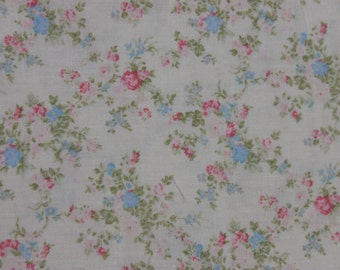 Yuwa French Tiny Roses  on Dark Cream Pale Yellow  Cotton Fabric 826226C