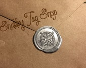Compass Wax Seal / envelopes/ Invitations / Favor Tags