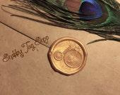 Vintage Bike / wax envelope seal / Invitation seal