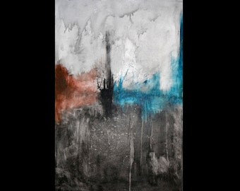 Abstract painting on canvas - Now I