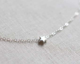Mini Sterling Silver Star Necklace