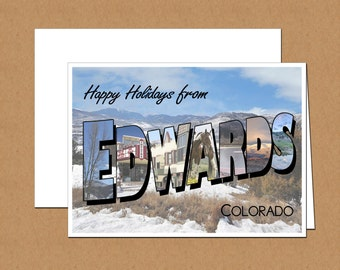 Happy Holidays From Edwards, Colorado Photo Letter Cards (set of 12)