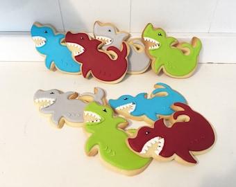 Shark Hand Decorated Sugar Cookies