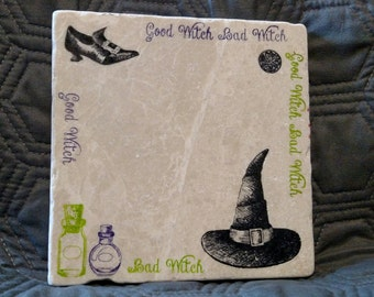 Good Witch/Bad Witch Trivet