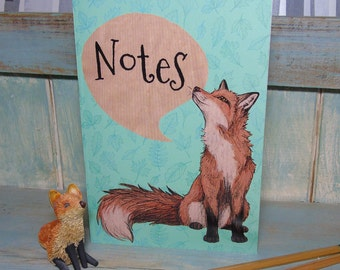 A5 Fox Illustration Journal ~ Notebook with 48 Lined Pages