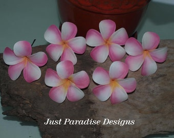 Hair Pins - Hawaiin Franipani- Set of 6 -  Light Pink