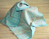 Green and Yellow Towel - Cotton Hand Towel - Colorful Handwoven Kitchen Towel - Eco Friendly Handwoven Towel