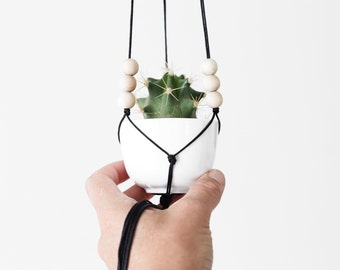 POLA - Miniature Hanging Planter with Cup - MORE COLORS