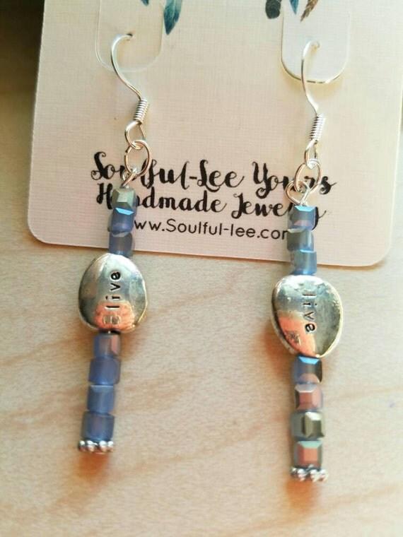 Blue crystal earrings, blue dangle earrings, long blue earrings, long crystal earrings, dangle crystal earring, live jewelry, dainty earring