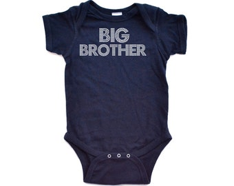 Apericots Cute Big Brother Short Sleeve Baby Bodysuit