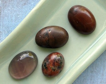 Mixed Stone Oval Cabochons 55% off, qty 4
