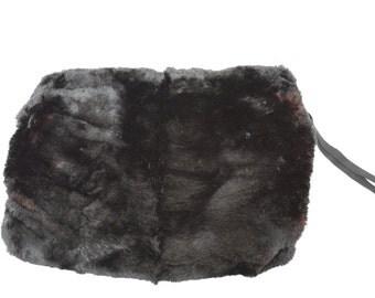 reserved for victoria vintage 40s fur muff soft black fur