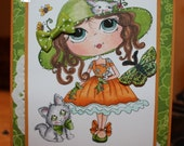 Handmade, Hand Colored, Handcrafted Card
