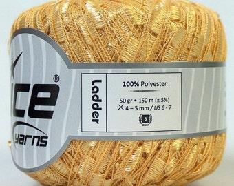 ice yarns ladder ribbon trellis yarn yellow bulky 1 skein ribbon bulky chunky novelty knitting crochet supply usa multicolor 24876